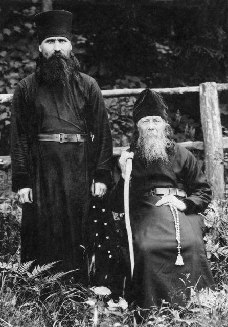 Преподобный Анатолий, старец Оптинский и его келейник Варнава (Клыков)