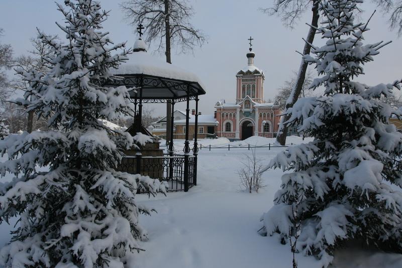 В снегу радость